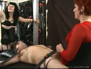 Bound Handjobs And Facesitting From Two Milf Mistresses